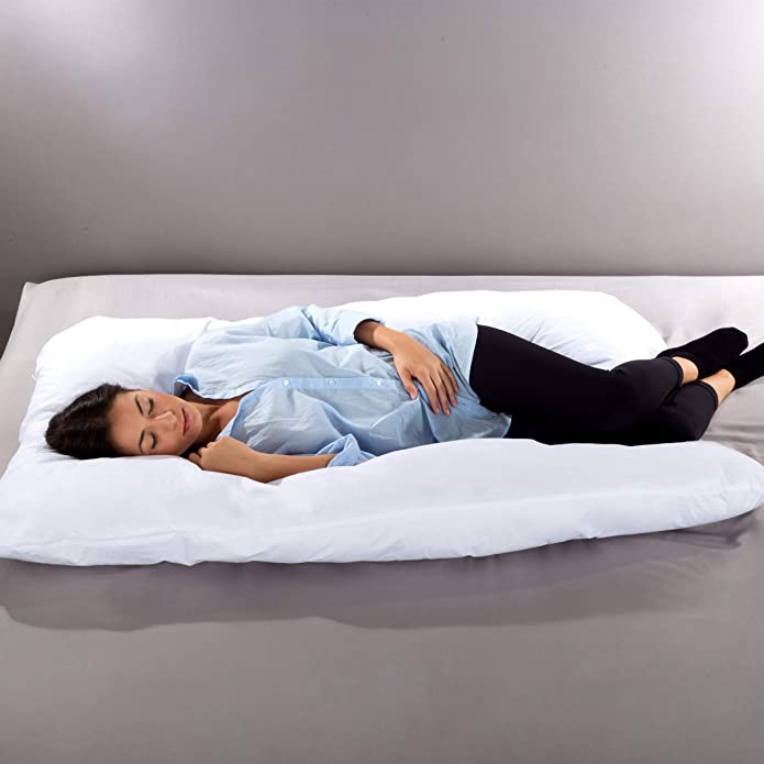 Lavish Home 83-TEX3001 Comfortable U-Shape 7 in 1 Full Body Pillow with Removable Cover, Regular
