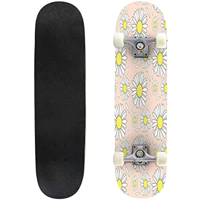 "Cuskip Sea Skateboard Complete Longboard 8 Layers Maple Decks Double Kick Concave Skate Board, Standard Tricks Skateboards Outdoors, 31""x8"" : Sports & Outdoors"