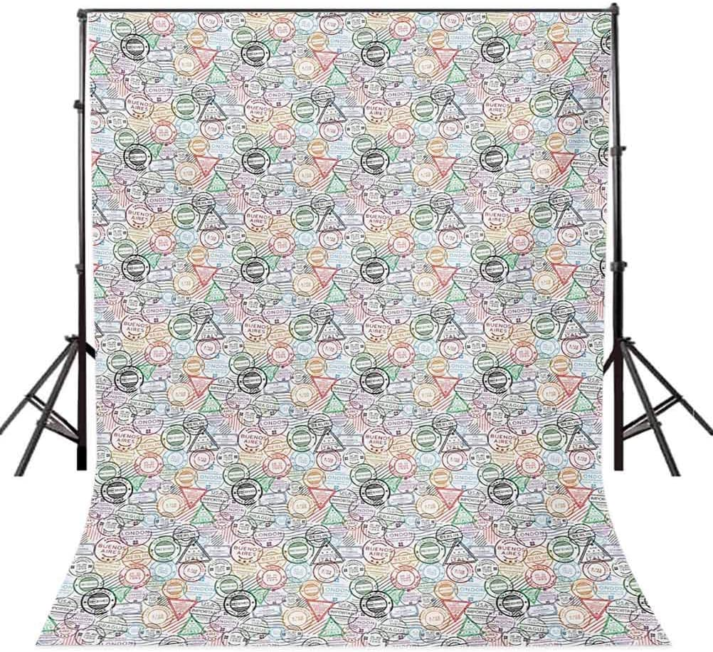 Vintage 8x10 FT Backdrop Photographers,Third Eye Symbol Inside Hypnotic Spiral Circles Trippy Lines Mystic Hippie Boho Background for Photography Kids Adult Photo Booth Video Shoot Vinyl Studio Props