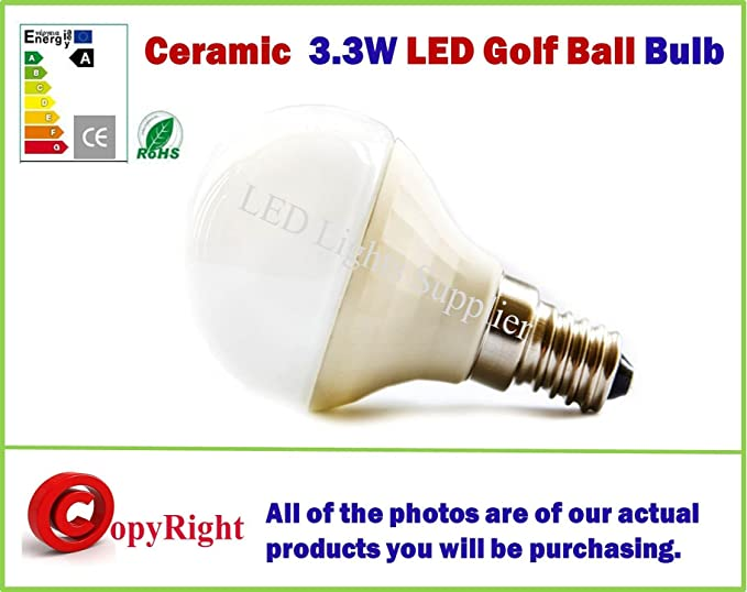 3,3 W E14 bombilla LED Epistar cerámica True, forma, rosca Edison pequeña