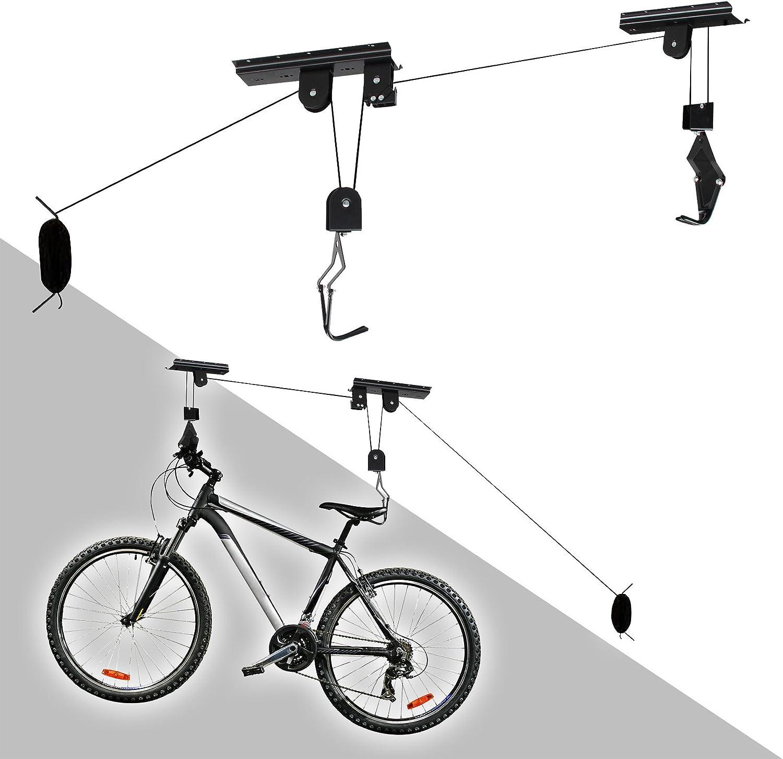 WilTec Soporte Bicicleta Techo Cuelga bicis Colgador Bicicletas ...