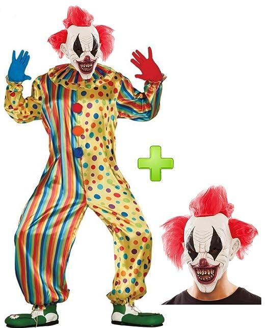 Disfraz de Payaso Asesino con mascara - Disfraces Hallowen ...