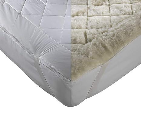 Original Sleep Company Superior Pure Australiano Lana Ultimate colchón Reversible de Forro Polar Doble de Cama