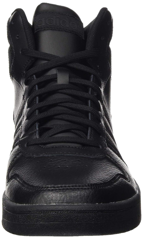 adidas Hoops 2.0 Mid, Chaussures de Basketball Homme Noir (Core Black/Core Black/Core Black Core Black/Core Black/Core Black)