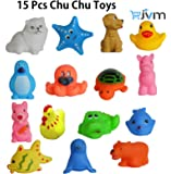 Chu chu Bath toys Multi-color (1 Set - 15 Pcs)