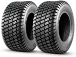 MaxAuto 2 Pcs 16x6.50-8 Lawn Mower Tire for Garden Tractors Ridings,