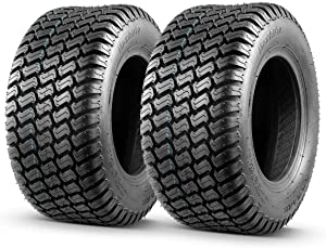 MaxAuto 2 Pcs 16x6.50-8 Lawn Mower Tire for Garden Tractors Ridings, 4PR, Tubeless