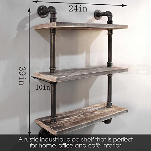 iron pipe shelf industrial thick wood i domestic the paint shelving shelves fixer stain planks farmhouse open spray and diy using kitchen created upper