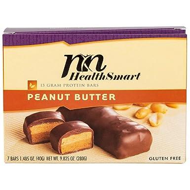 HealthSmart – – mantequilla de maní Barra de Proteína – 15 G ...