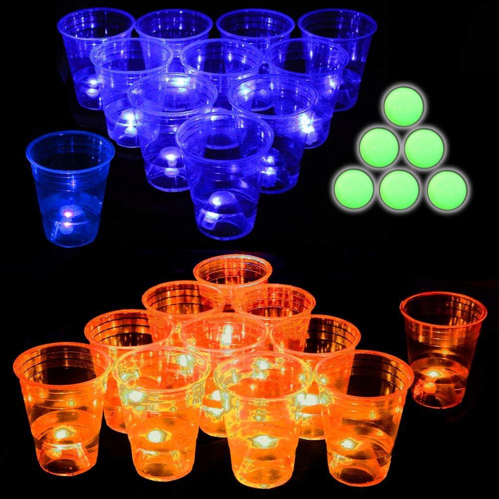 Glow in The Dark Beverage Pong Set