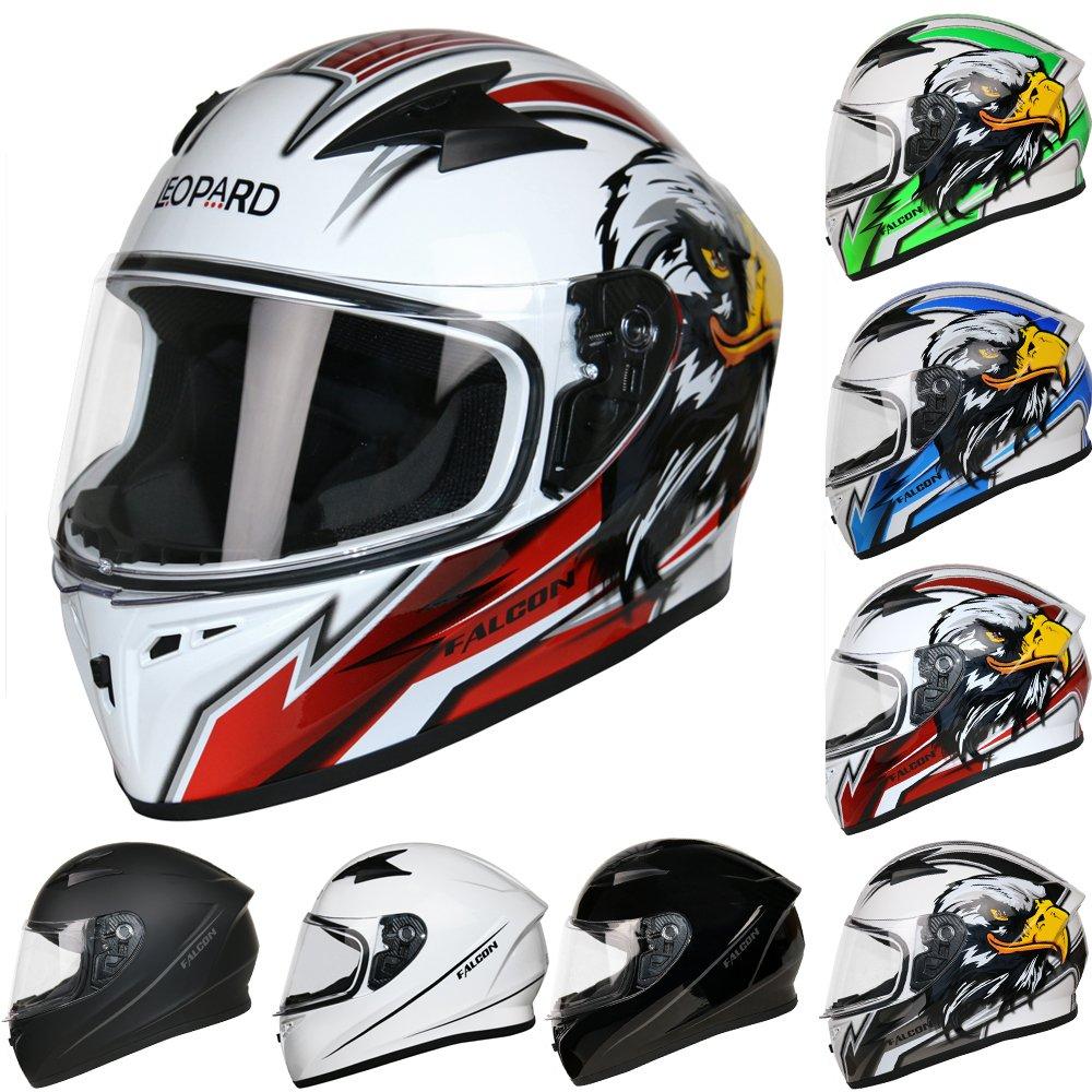 Leopard LEO-819 Full Face Motorbike Helmet Motorcycle Road Legal - Dragon S (55-56cm) Touch Global Ltd