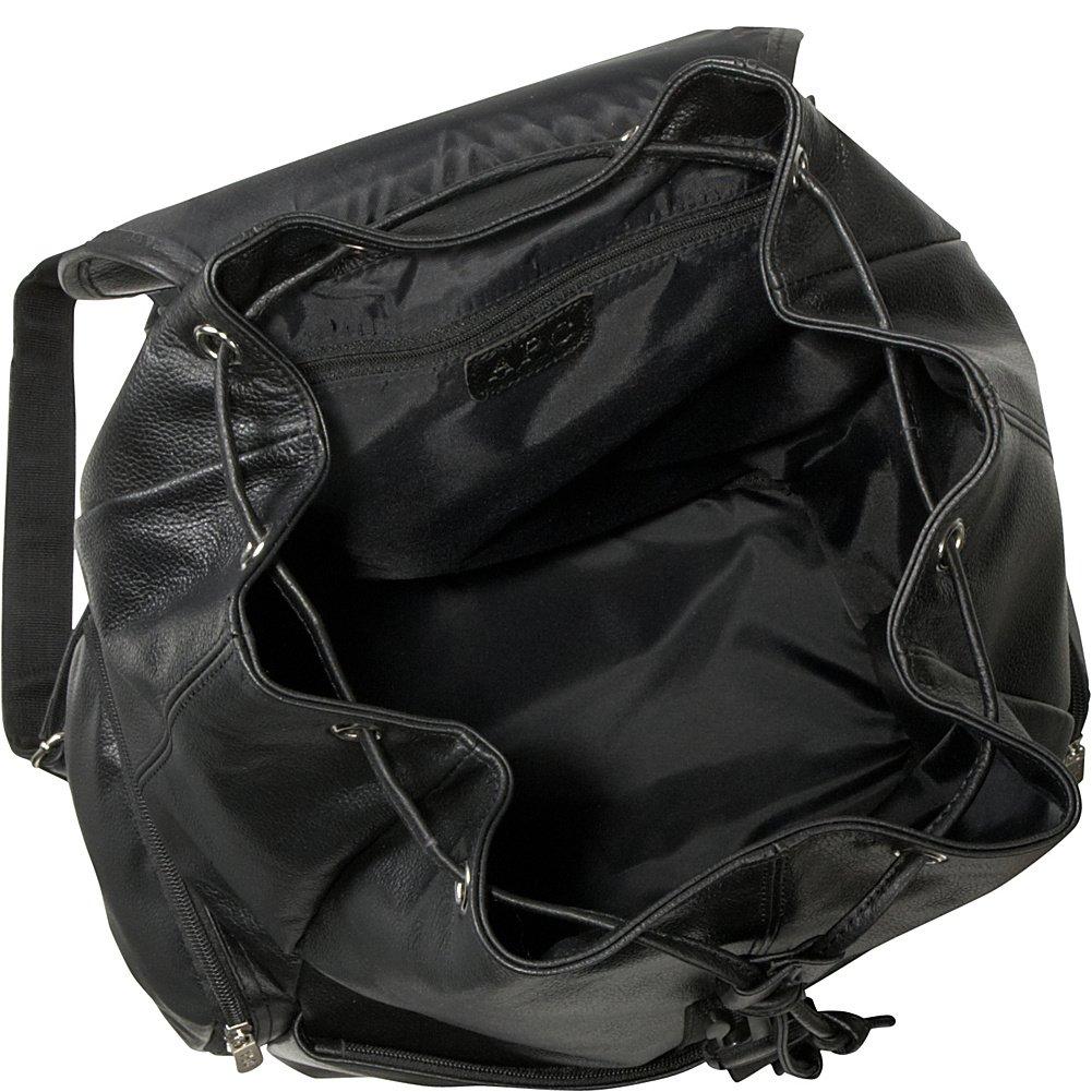 Amerileather Jumbo Leather Backpack,Black,US