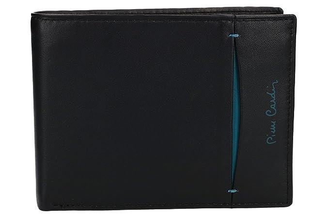 e8c6c3f6cb7c8f Pierre Cardin Portafoglio uomo nero in pelle con porta libretto assegni  VA2109: Amazon.it: Abbigliamento