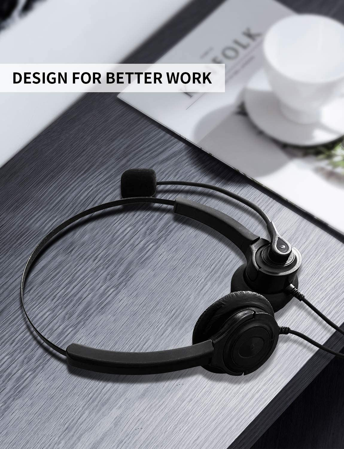 2020 Upgraded USB Wired Computer Headsets Headphones with Microphone Super Lightweight Hedphones for Skype//Crystal Clear Chat USB Headset with Microphone Noise Cancelling Mic and in-line Controls