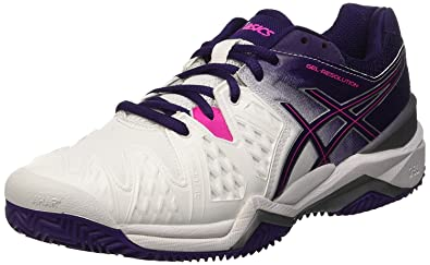 Asics - Gel-Resolution 6 Clay Damen Tennisschuh (weiß/pink): Amazon ...