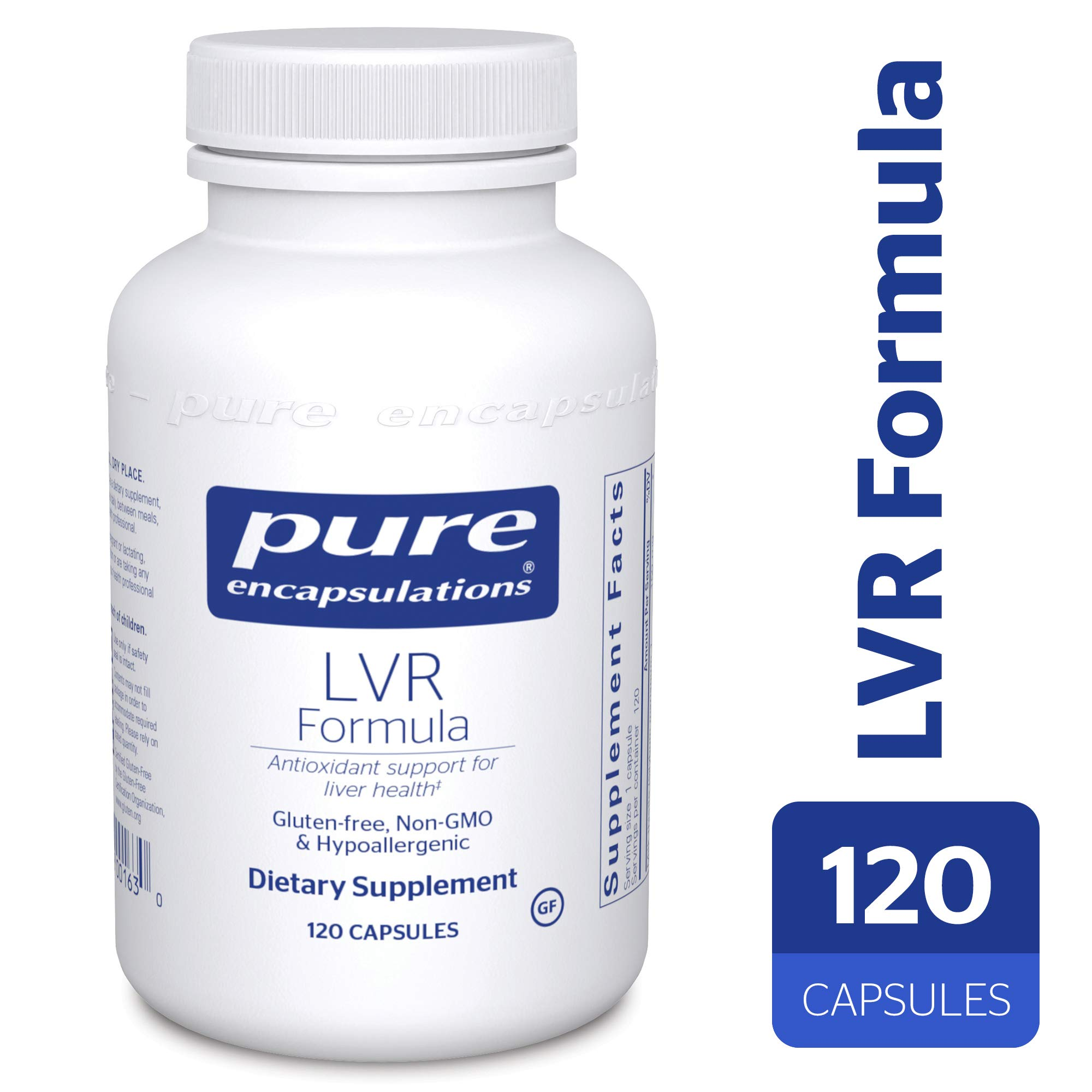 Pure Encapsulations - LVR Formula - Hypoallergenic Supplement with Antioxidant Support for Liver Cell Health* - 120 Capsules by Pure Encapsulations