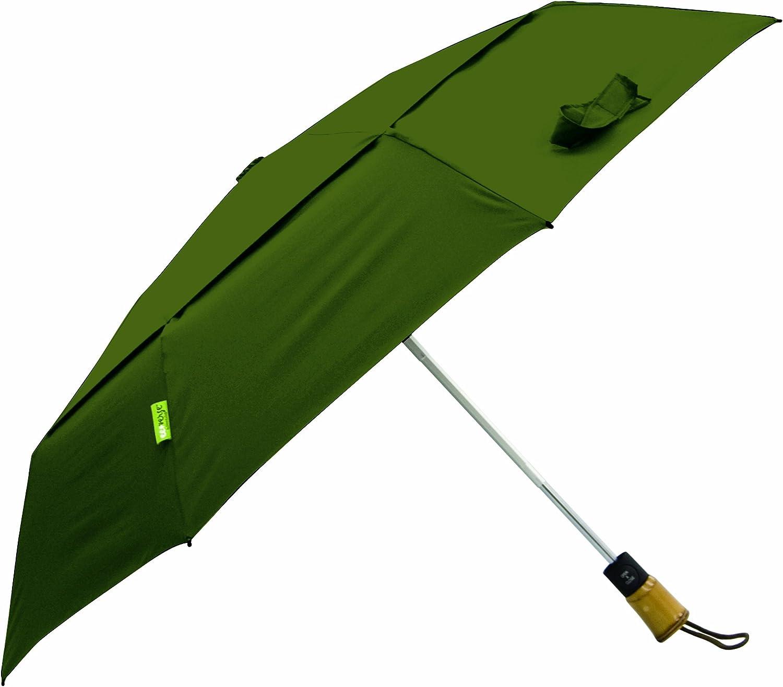 Totes Auto Open Auto Close Umbrella,Green,One Size