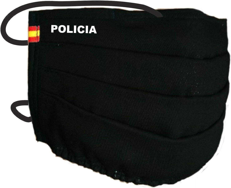 Mascarilla Policia con Bandera