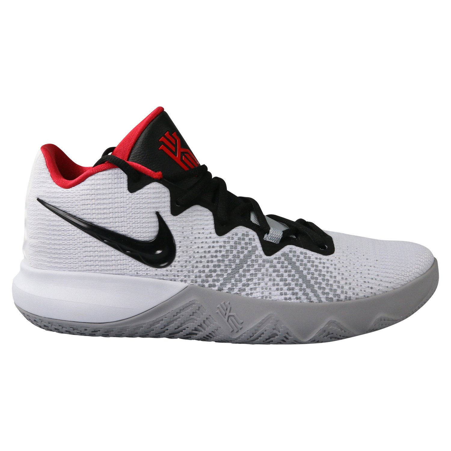 Nike Kyrie Flytrap Mens Hi Top Basketball Trainers AA7071 Sneakers Shoes (UK 7 US 8 EU 41, White Black University red 102)