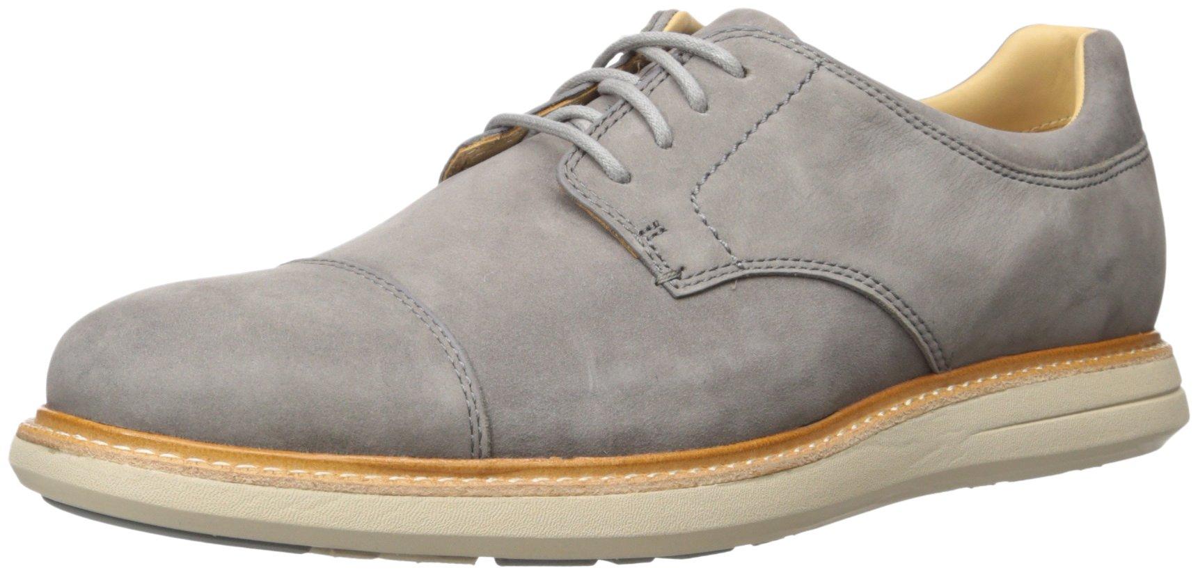 Sebago Men's Smyth Cap Toe Oxford, Dark Grey Nubuck, 7 M US