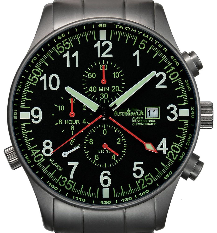 Astroavia Herren-Armbanduhr Alarm Chronograph Quarz P7S