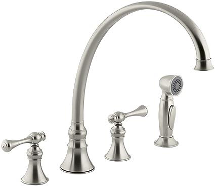 Kohler K 16111 4a Bn Revival Kitchen Sink Faucet Vibrant Brushed Nickel