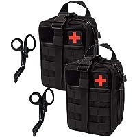 KrisVie Pochette EMT Médecine Tactique Sac étanche Molle de Premiers Secours, Trousse Kit de Premiers Soins Militaires pour Randonnée Camping Airsoft avec Un Ciseaux médical