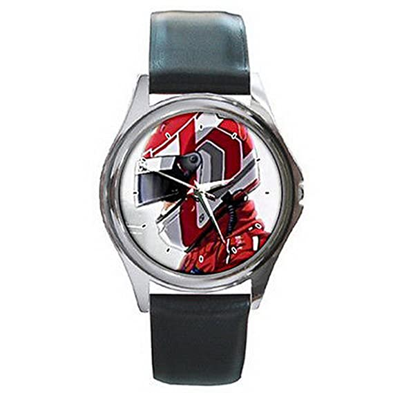 Reloj de pulsera de los hombres ESGA339 Capeta Race Track motocycle racer helment high speed leather