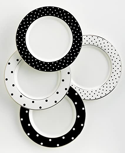 kate spade new york Larabee Road Black Tidbit Plate Set - 4 ct  sc 1 st  Amazon.com & Amazon.com | kate spade new york Larabee Road Black Tidbit Plate Set ...