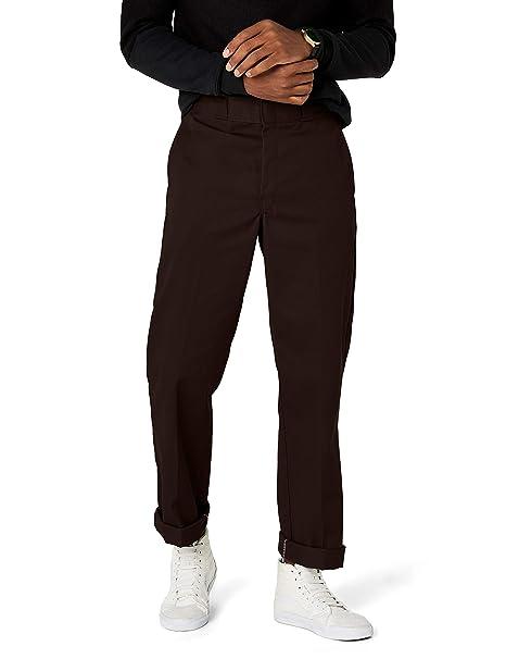 buty temperamentu wyglądają dobrze wyprzedaż buty na stopach zdjęcia Dickies Work Clothes: Men's Poly Blend Flat Work Pants 874DB - Brown - 34x30