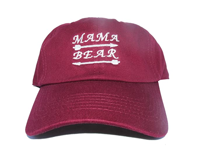 d60e10f9622 Mama Bear Custom Trendy Cool Moms Unstructured Twill Cotton Low Profile  Soccer Mom Dad Hat Cap