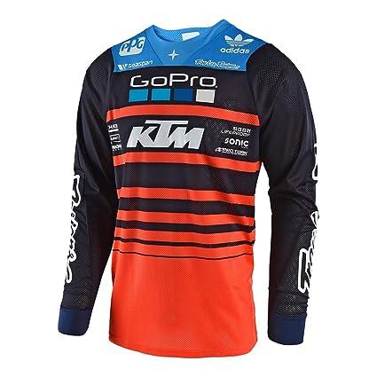 Troy Lee Designs Mens Offroad Motocross Streamline SE Air Jersey (Large, Navy/Orange
