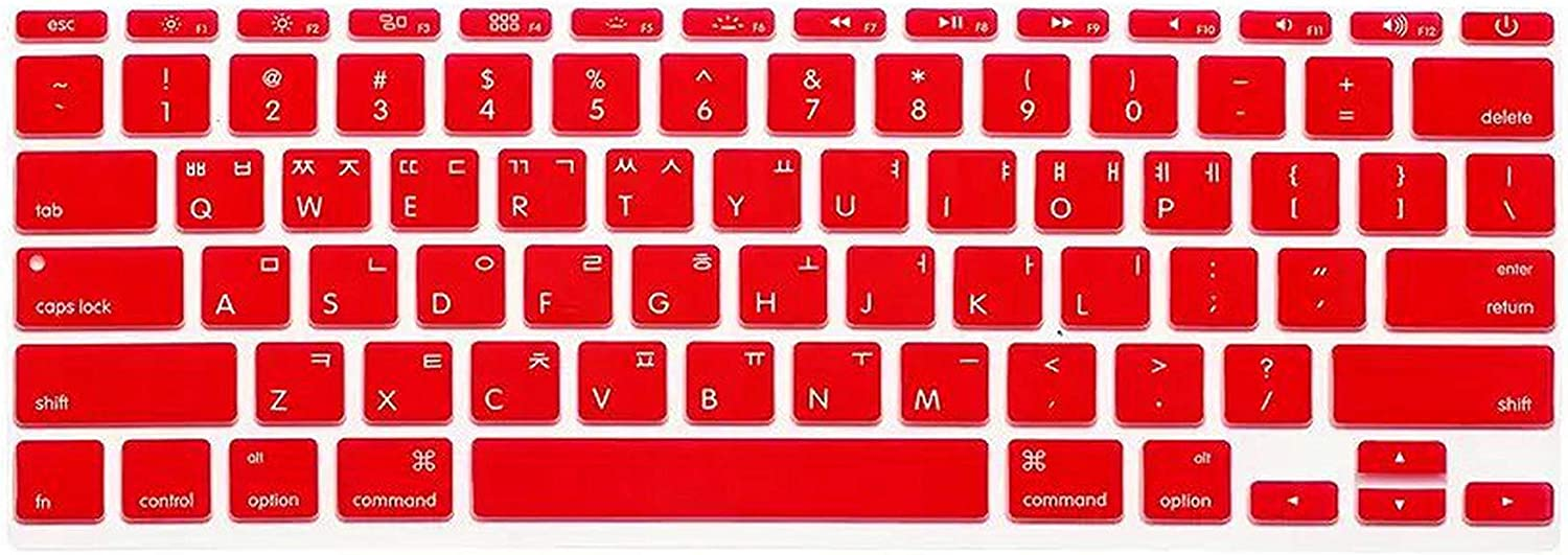 Film Pour Clavier Korean Language Keyboard Cover Protector Silicone Skin Protective Film for Mac Book Air 11 11.6 A1465 A1370 Us Version-Yellow