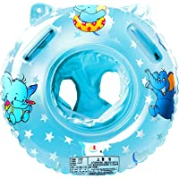 StillCool Salvagente Neonato Anello Salvagente Regolabile e Gonfiabile, Anello di Nuoto per le Barche e per I Bambini, Neonati Baby (blu)