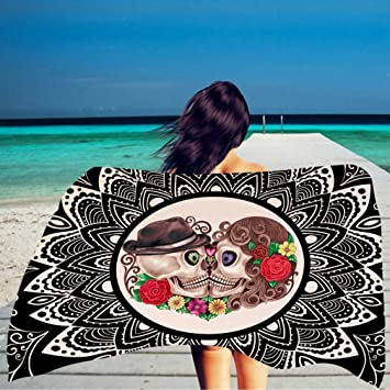 YAN Rectángulo de Playa - Toalla de Playa Grande, Toalla Suave 100x150CM con Diseño Exclusivo