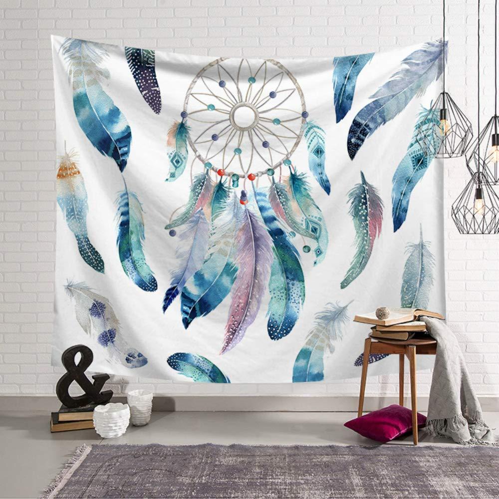 Nsblln Piume Vintage Macrame Mandala Tapestry Stampato Muro collettore impiccagione arazzo Tappeto Boemia Poliestere Decorazione