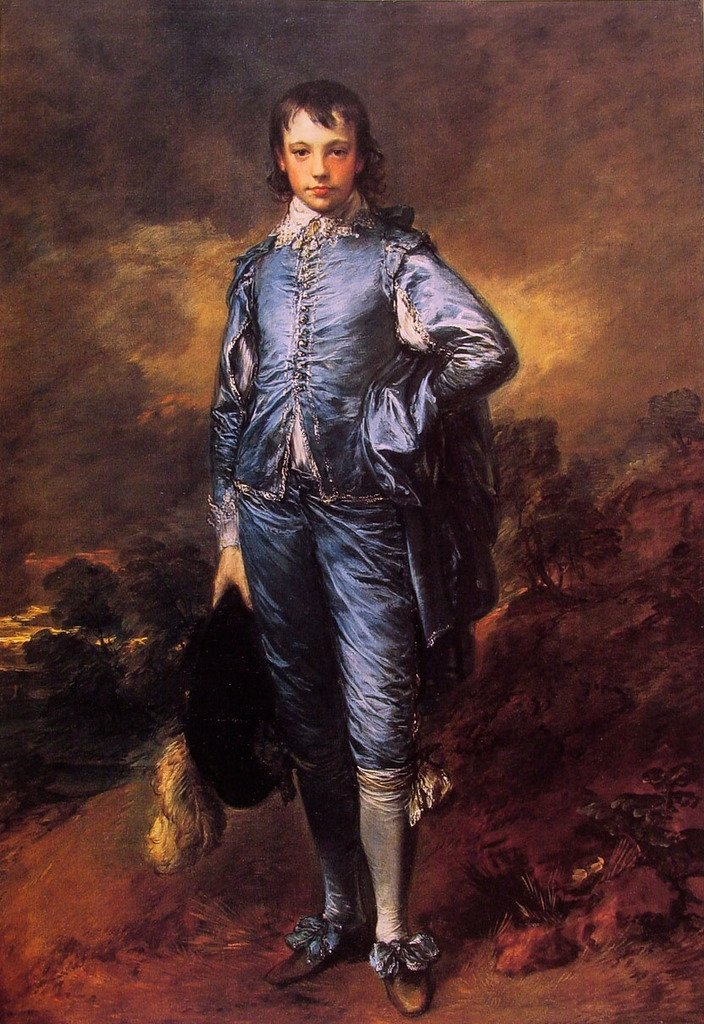 Gainsborough Thomas The Blue Boy (Jonathan Buttall) 100% Hand Painted Oil Paintings Reproductions 24X36 Inch