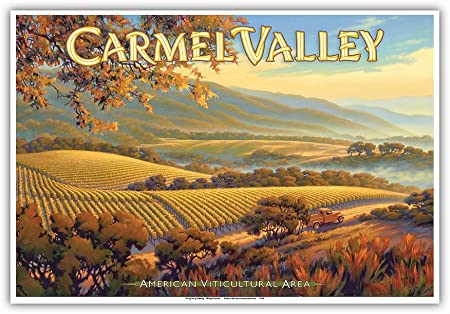 Pacifica Island Art Carmel Valley Bodegas-Joullian viñedos-Central Coast AVA viñedos-California Wine Country Art Kerne Erickson-Arte Master Print-13inx19: Amazon.es: Hogar