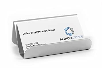 Amazon Aluminum Business Card Holder Office Products