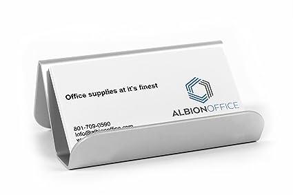 Amazon aluminum business card holder office products aluminum business card holder colourmoves