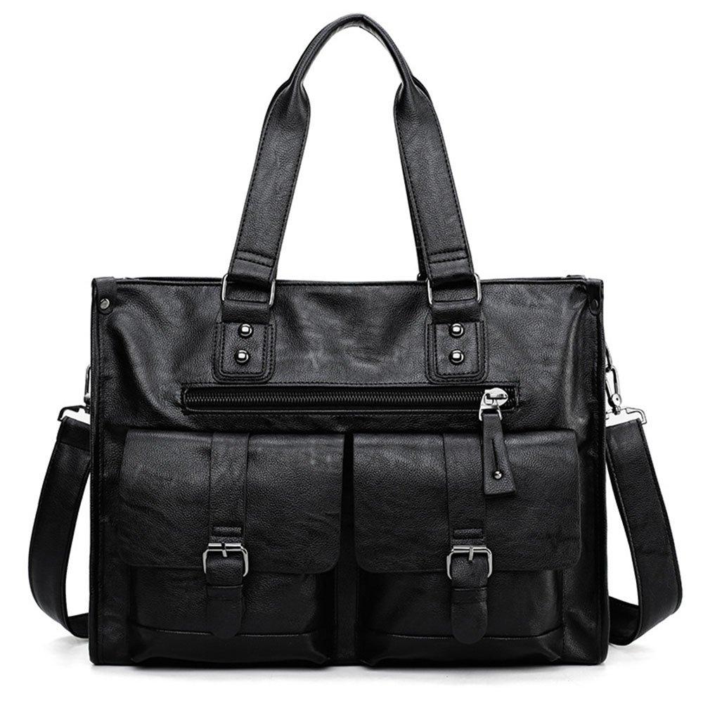 Yangjiaxuan Men Business Handbag Horizontal Version High Capacity Luggage Shopping Carry Bag Black (Color : Black)
