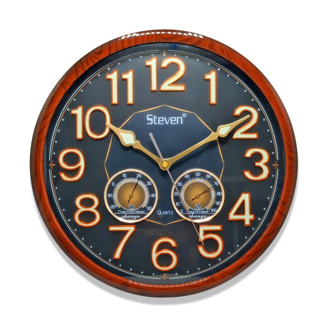 KITCHINDRA Steven Quartz Vintage Design Plastic Wall Clock