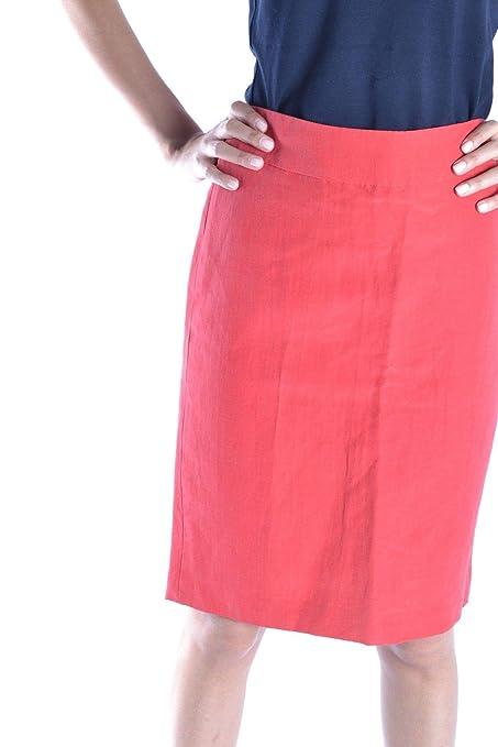 bcdafb33584942 Armani Collezioni Women's Mcbi15283 Red Viscose Skirt at Amazon Women's  Clothing store: