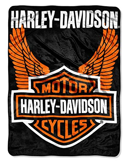 Amazon HarleyDavidson Royal Plush Raschel Throw Blanket 40x40 Simple Harley Davidson Blankets And Throws