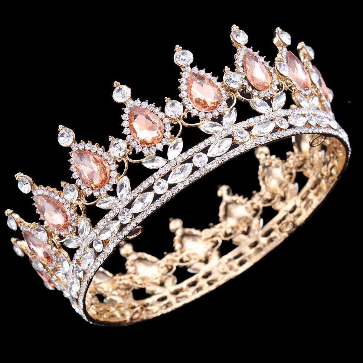 HerZii Diad/ème de princesse en strass id/éal pour mariage et f/ête