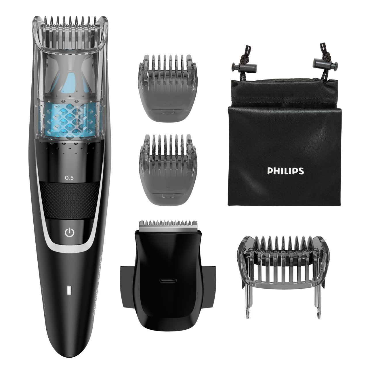 Philips Norelco Beard trimmer Series 7300 with Vacuum, BT7225/49