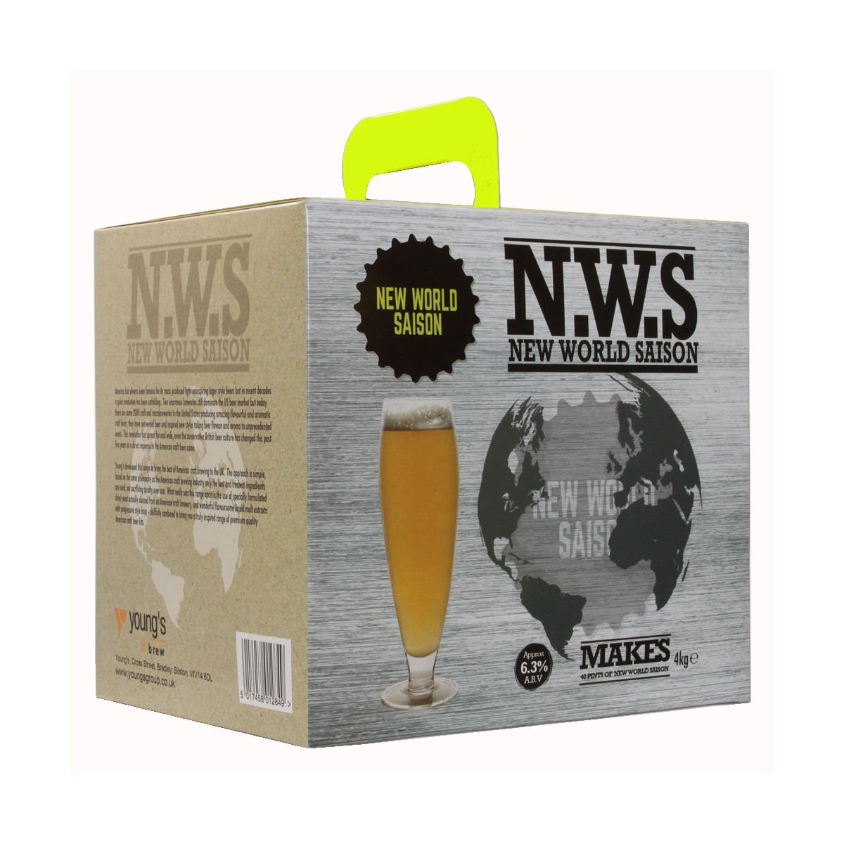 American Ale Premium Beer Kits - New World Saison 4.0Kg Home Brew Homebrew Youngs