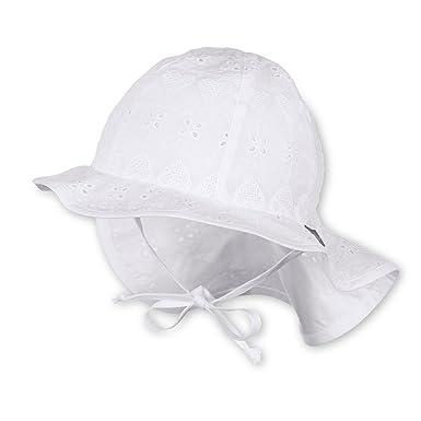 50% Preis Rabatt bis zu 60% mehrere farben Sterntaler - Mädchen Sonnenhut Mütze zum binden gemustert, weiß - 1411811