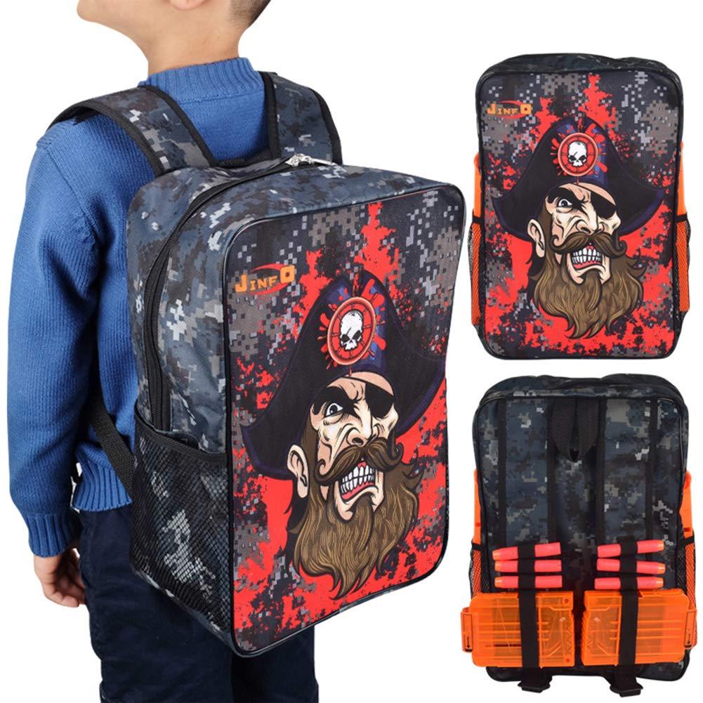 Amazon.com: Tactical Target Pouch Shooting Practice Adjustable Shoulder Strap Backpack Storage Carry Equipment Bag for Nerf Guns Darts N Strike Elite / Mega ...