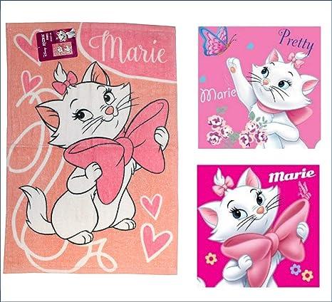 Disney Aristogatos Marie Juego de Toallas de Mano (3 Pack): 1 x Cara